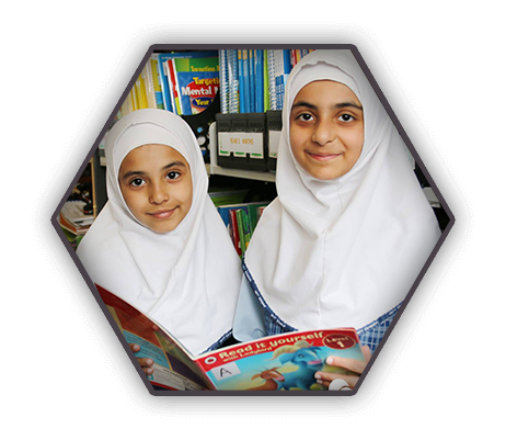 Happy Muslim Kindergarten in Unity Grammar reading